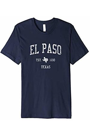 Navy El Paso Texas TX Sweatshirt Vintage Sports State Design