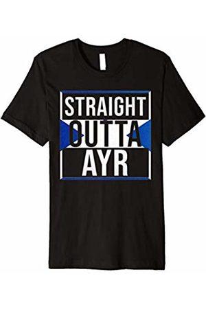 Scottish City Shirts By Clint Straight Outta Ayr T Shirt