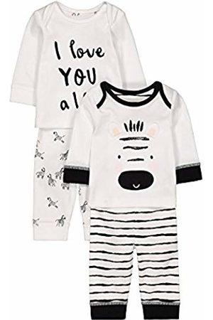 Mothercare Baby Unisex Zebra 2 Pack PJ Pyjama Sets, ( / )