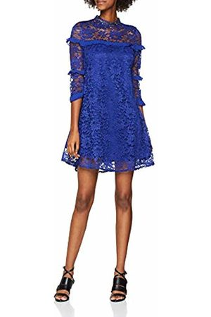 Little Mistress Women's Cobalt Lace Shift Dress, (Cobalt)