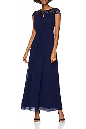 Little Mistress Women's Navy Pearl Maxi Dress, (Navy)