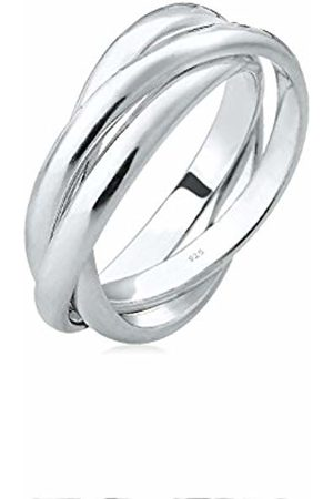 Elli Women's 925 Sterling Wrapped Ring of Size N