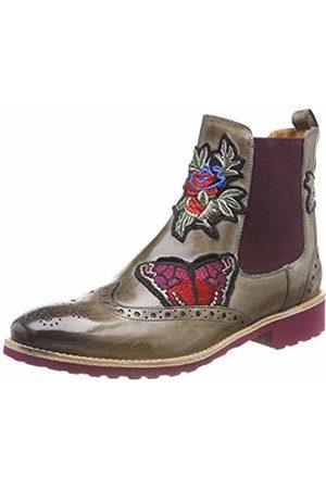Melvin & Hamilton Women's Amelie 44 Chelsea Boots, Multicolor (Crust/Marble + Embr. BFB/Ela. Burgundy/Rook D Burgundy)