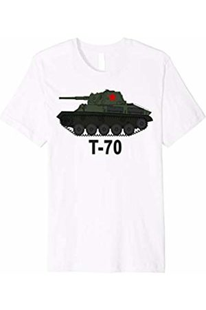 Buy Cool Shirts Russian Soviet Union T70 WWII Retro Tank Tee Shirt