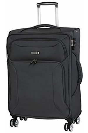 IT Luggage Fascia 8 Wheel Lightweight Semi Expander Medium with TSA Lock Suitcase, 68 cm, 90 L