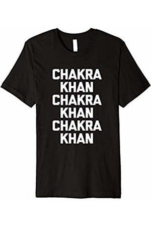 NoiseBot Funny Yoga T-Shirt: Chakra Khan T-Shirt funny saying workout