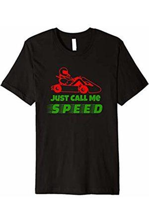 Go Kart Racing Car Driver Speed Driving byEB Shirt Red White Go Kart Driver Tshirt Speed Racing Fun Sport Gift