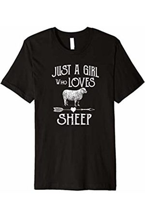 Sheep Designs for Men Women Children Just a Girl Who Loves Sheep short sleeve shirt