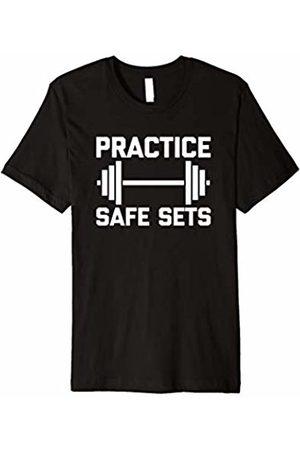 NoiseBot Funny Gym Shirt: Practice Safe Sets T-Shirt funny workout