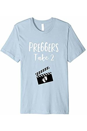 Pregnant Shirts for Women Funny Movie Theme Pregnancy Announcement Movie Film Shirt Preggers Second Baby