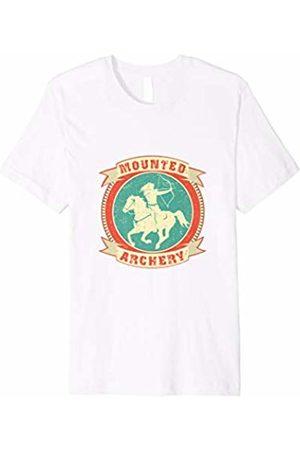 NickerStickers Mounted Archery | Equestrian Woman Archer T-Shirt