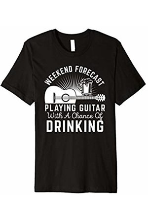 Guitar Beer Wear IT Weekend Forecast Playing Guitar Drinking Beer T-Shirt