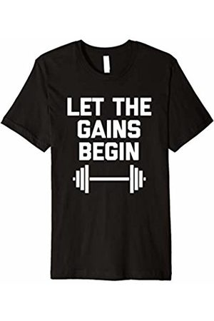 NoiseBot Let The Gains Begin T-Shirt funny saying gym workout fitness