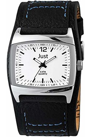 Just Watches Men's Quartz Watch 48-S10628-WH-BK with Leather Strap