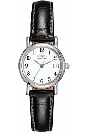 Citizen Women's Eco-Drive Watch with White Dail Analogue Display and Leather Strap EW1270-06A
