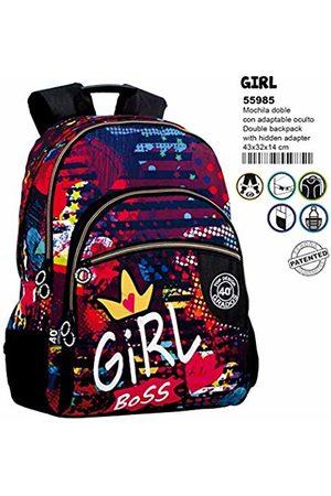 Montichelvo Double Backpack A.O. Cg Girl School Bag