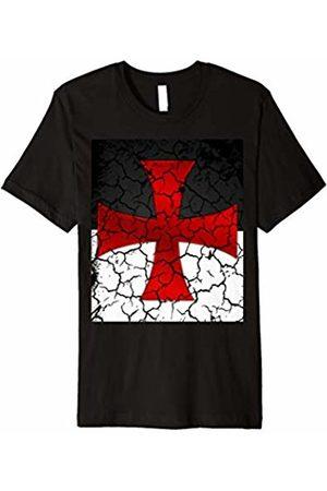 0ae44eb3 Templar T-Shirt Battle Flag Distressed Medieval Knights