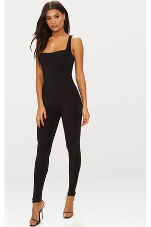 PRETTYLITTLETHING Second Skin Slinky Square Neck Jumpsuit