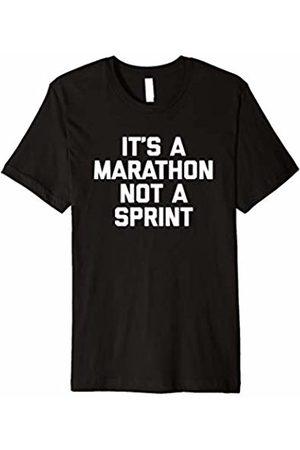 NoiseBot It's A Marathon Not A Sprint T-Shirt funny running runner