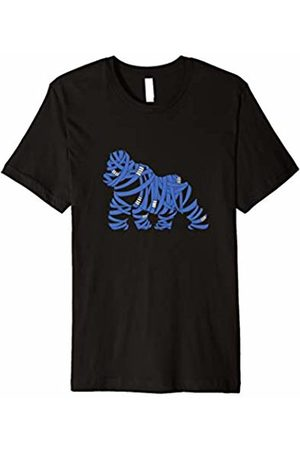 Jiu Jitsu Shirt Tee T-Shirt Gift Bjj Jiu Jitsu Belt Gorilla - Blue