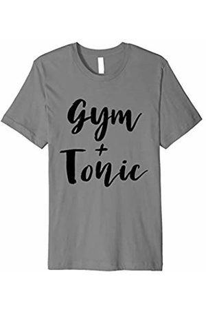 Gym Workout Fitness and Warm Up Apparel Funny Workout Exercise T-Shirt - Gym and Tonic Drinking Tee