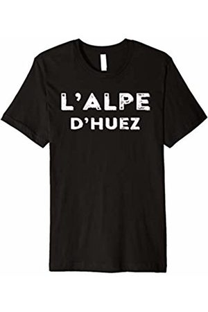 NYC FACTORY Alpe dHuez retro style tee - French Alps Short sleeve t-shir