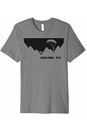 Designed For Flight Explore. Fly. Paramotor Pilot T-Shirt