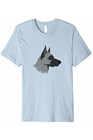 The New Antique Grey Dog Print T-Shirt