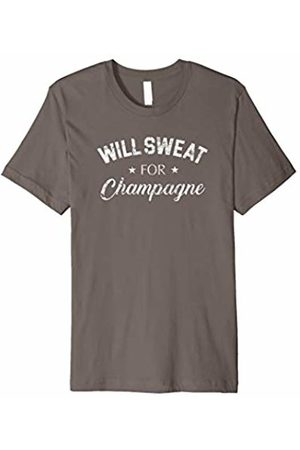 Funny T-Shirt Sayings Will Sweat For Champagne T-Shirt - Gym, Workout