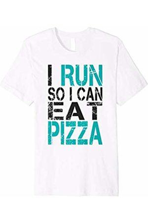 LUMOWELL I Run So I Can Eat Pizza T-Shirt. Funny Running Shirt