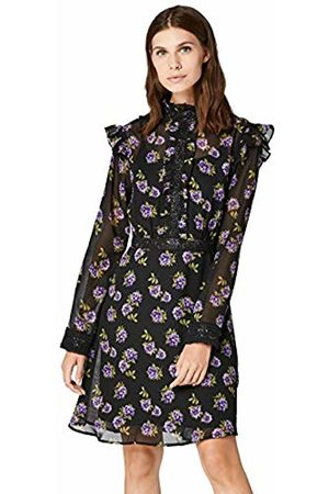 TRUTH & FABLE Women's Floral Lace Insert Mini Dress Party Dress