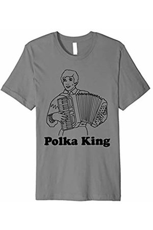 NoiseBotLLC Polka King T-Shirt funny saying music sarcastic novelty tee