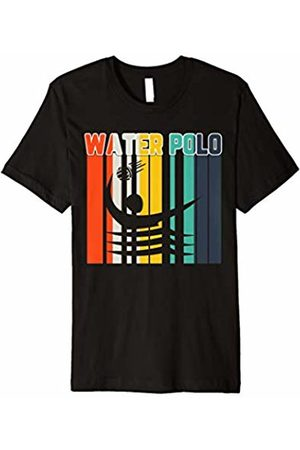 Vintage Style Water Polo Silhouette Toddler Girls T Shirt Kids Cotton Short Sleeve Ruffle Tee