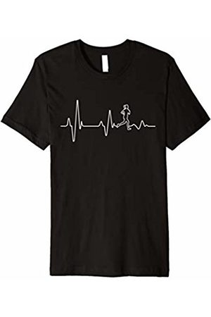 Activewear, Fitness, Workout & Sports T-Shirts Runners Joggers Marathoners Cross Country Heartbeat T-Shirt