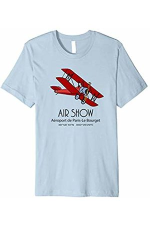 Jimmo Designs Vintage Biplane Air Show T-Shirt For Aviation Lovers