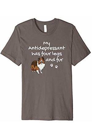 Sheltie Gift Sheltie T Shirts, Shetland Sheepdog Antidepressant Has Four Legs Sheltie Shirt