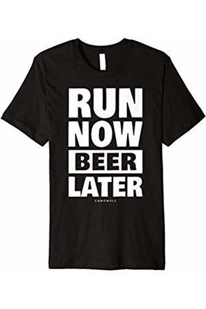 LUMOWELL - Running Run Now Beer Later Shirt - Funny Running Shirts