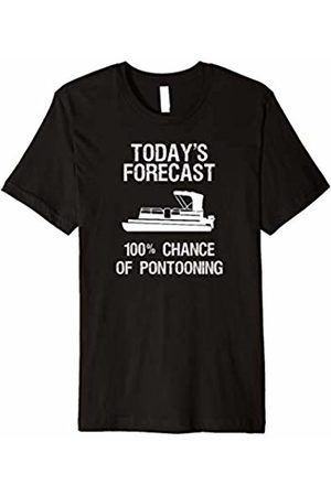 Pontoon Funny T-Shirts Pontoon Boating Funny T-Shirt - Pontooning Today's Forecast