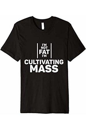 Hella Bella Apparel Mens I'm Not Fat I'm Cultivating Mass Shirt Workout Gym Fitness
