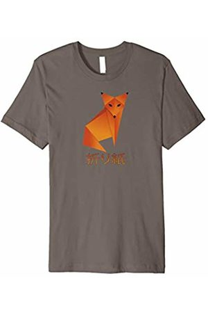 Jimmo Designs Origami Fox Japanese Calligraphy Inspirational Kanji T-Shirt