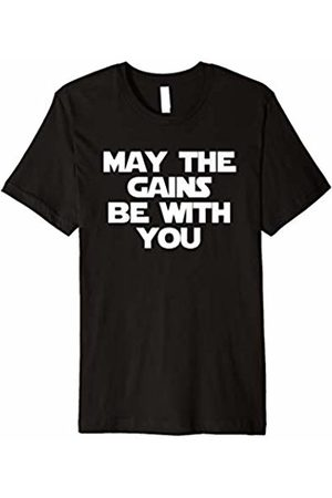 NoiseBot May The Gains Be With You T-Shirt funny gym workout fitness