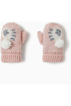 Zara EMBROIDERED SHEEP MITTENS