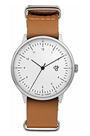 Chpo Unisex Adult Analogue Classic Quartz Connected Wrist Watch with Leather Strap 14224DD