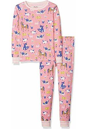 Hatley Girl's Organic Cotton Long Sleeve Printed Pyjama Sets, (Farm Friends)