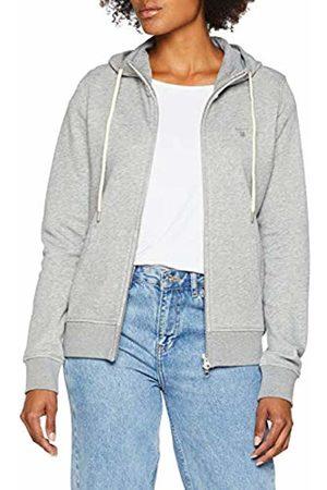 GANT Women's Tonal Shield Full Zip Hoodie, ( Melange)