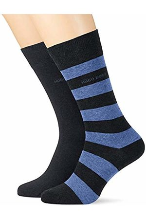 HUGO BOSS BOSS Men's 2p Block Stripe Cc Calf Socks