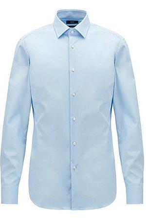 HUGO BOSS Slim-fit business shirt in cotton poplin