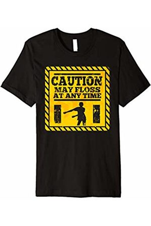 BUBL TEES SCHOOL Caution May Floss At Any Time T Shirt Flossing Dance Boss