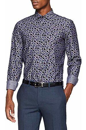 Seidensticker Men's Slim Langarm Mit Kent-Kragen Soft Floraler Druck Winter Botanicals Business Shirt