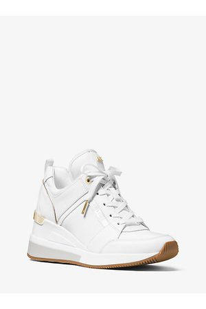 Michael Kors Georgie Canvas And Leather Sneaker